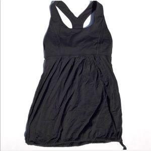 Lululemon tank top racer back yoga black size 4